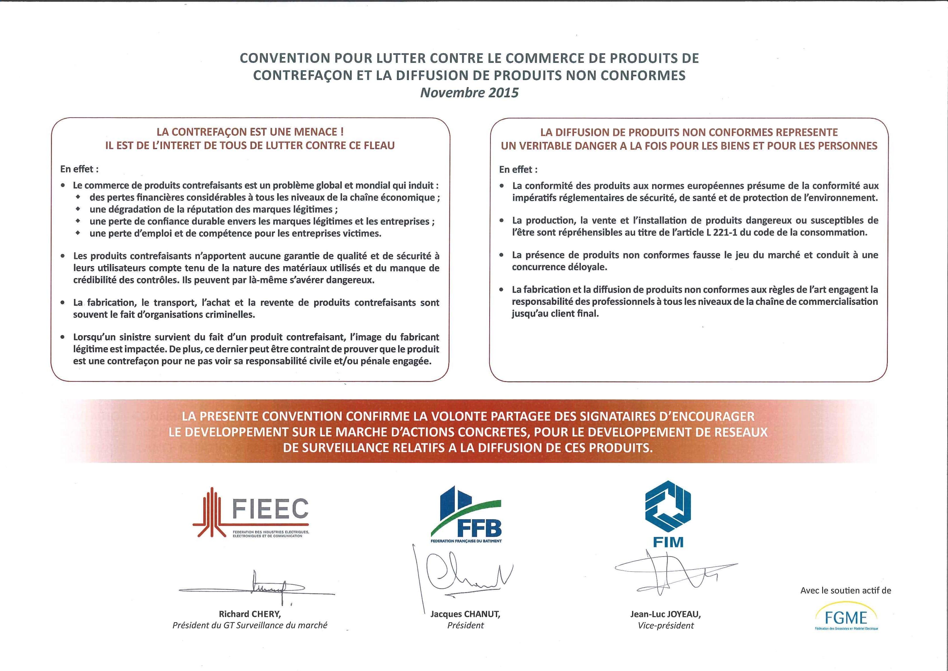 Charte FIEEC - FFB - FIM - novembre 2015 signé